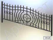 Кованые ограды для клумб