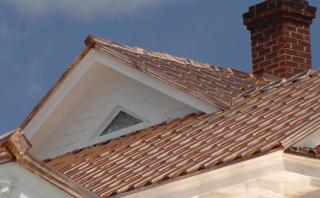 крыша из меди