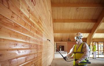 Подготовка и монтаж деревянного бруса модульного сооружения